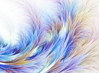 Abstract fractal computer-generated image. illustration. background with the  of a frosty pattern