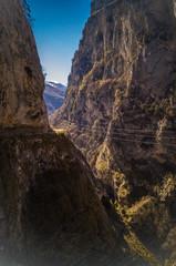 A majestic View the Cherek gorge, the Caucasus mountains, Kabardino-Balkaria,Russia