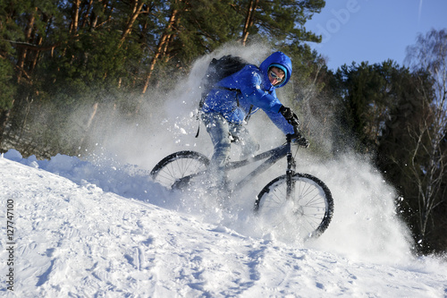 mountainbike snow winter extreme-#13