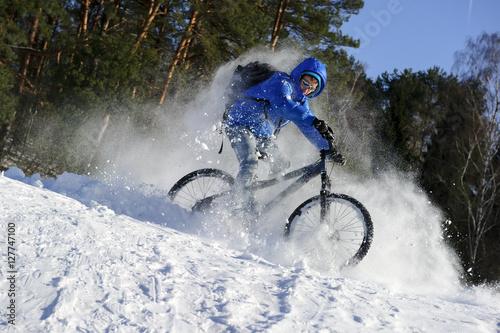 mountainbike snow winter extreme - photo #12