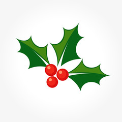 Holly Christmas symbol