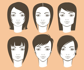 female face shapes and haircuts