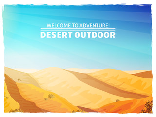 Desert Landscape Background Poster
