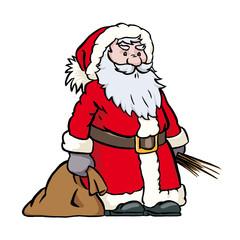 Sankt Nikolaus mit Sack und Rute