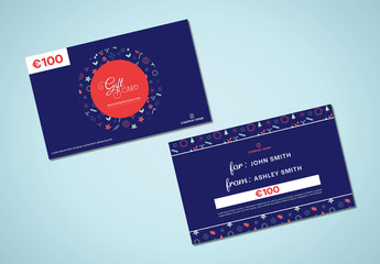 Winter Holiday Gift Card Layout 1