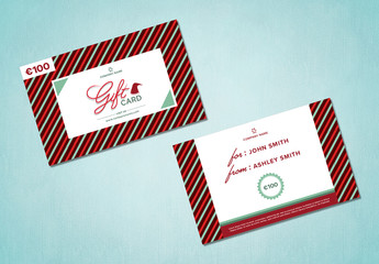 Winter Holiday Gift Card Layout 2