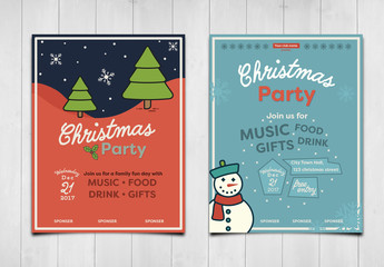Christmas or Winter Event Poster Layout