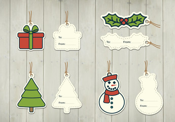 Christmas Gift Tag Layouts