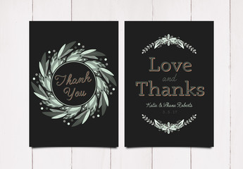 Simple Floral Thank You Card Layout 3