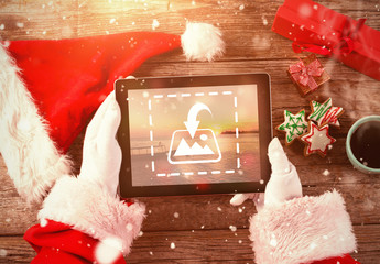 Santa with Tablet Mockup