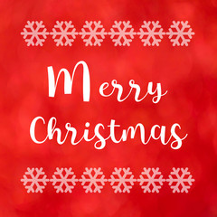 Merry Christmas on red background
