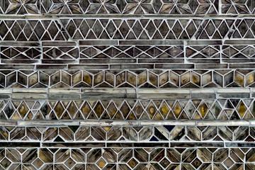 Inlaid mosaic glass wall, Swedagon Pagoda, Yangon, Myanmar