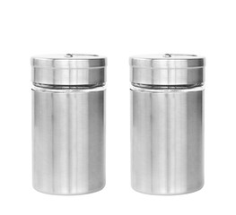 dual or two blank stainless steel bottle seasoning or cruet for