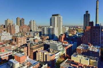 Aerial of East Side of Manhattan