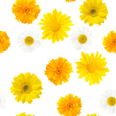 yellow flowers, seamless pattern