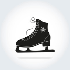 The skate icon on the white background.