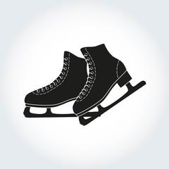 The skates icon on the white background.