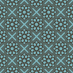 Vector Pattern in Vintage Islamic Style, Ornamental background