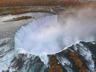 Aerial image Niagara Falls