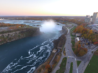 Aerial photo Niagara Falls New York