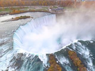 Aerial photo Niagara Falls New York