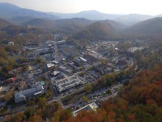 Aerial image of Gatlinburg Tennessee