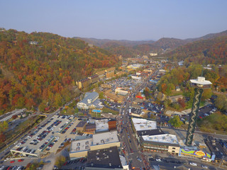 Aerial image of Gatlinburg Tennessee