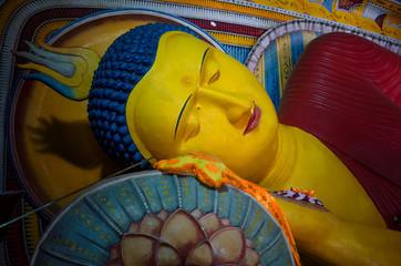 Ancient Buddha image in annaradapura
