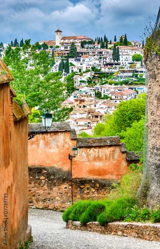 Granada - Albaicin Moorish quarter, Andalusia in Spain