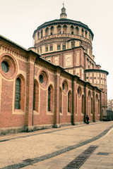 view of Santa Maria delle Grazie Milan city  Italy