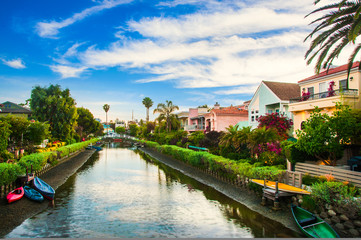Houses on the Venice Beach Canals in California. Fototapete