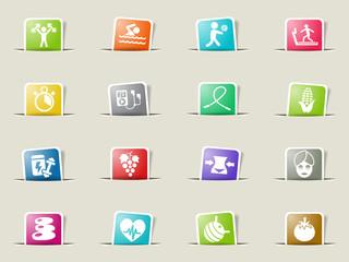 healthy lifestyle icon set
