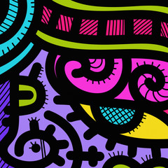 Foto auf AluDibond Klassische Abstraktion abstract shapes and colors