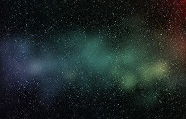 Stars and galaxy sky background