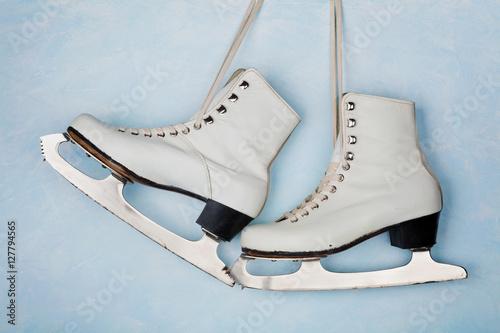 """Vintage ice skates for figure skating hanging on the ..."