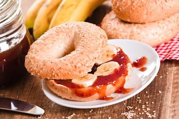 Sesame bagels.