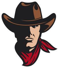 american cowboy vector illustration