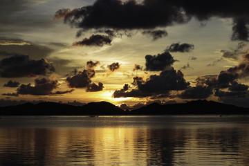 Sunrise and sunset landscape