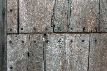 Fragment of old wooden door – texture