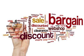 Bargain word cloud concept