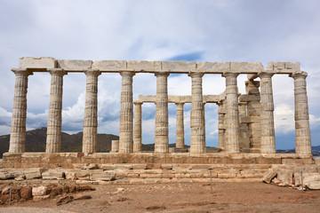Temple of Poseidon at Cape Sounion Attica Greece