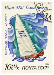 Racing yacht in Finn class, Olympics, Tallinn-80