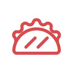 vector taco linear icon symbol