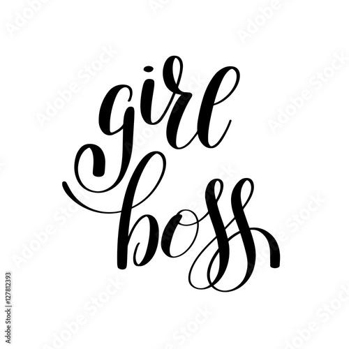 "Girl Boss Book Quotes: ""girl Boss Handwritten Positive Inspirational Quote Brush"