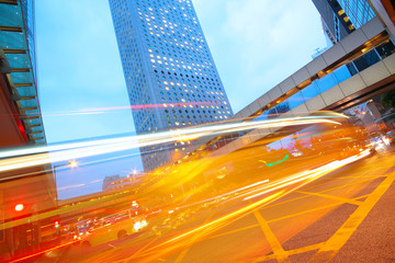 traffic city dusk