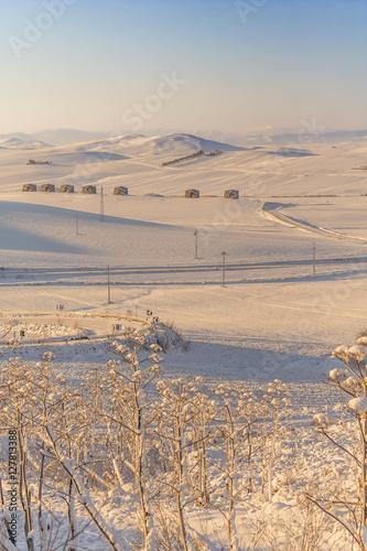 RURAL LANDSCAPE WINTER Between Apulia and Basilicata  snowy