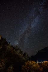 Milky way with Mountain view