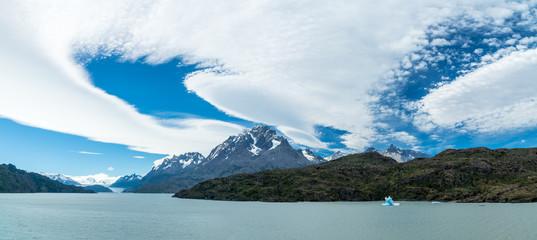Blick auf den Glaciar Grey, Torres del Paine, Chile