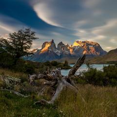 Sonnenuntergang im Torres del Paine