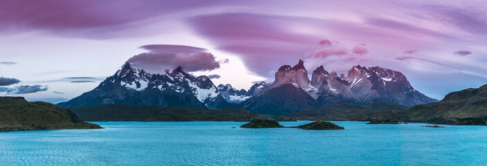 Sonnenuntergang Torres del Paine